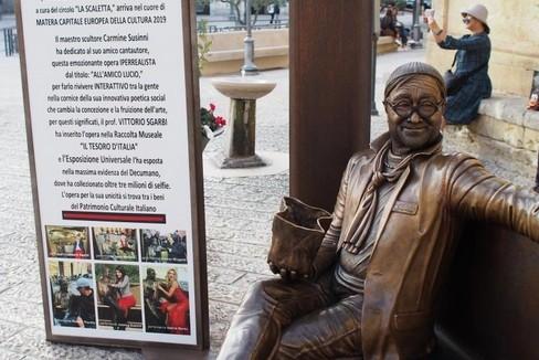 La scultura di Lucio Dalla
