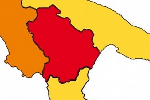 Basilicata in zona rossa