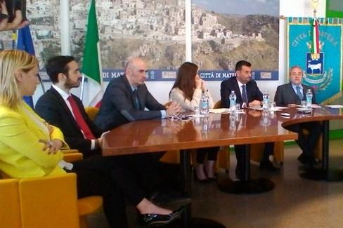 Firma del Protocollo d'intesa tra Matera, Bari e la Città Metropolitana