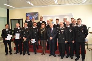La premiazione dei Carabinieri