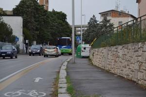 Pista ciclabile sulla circonvallazione di Lanera