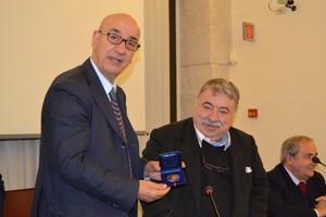 Consegna della medaglia Fondazione Spadolini a Adduce