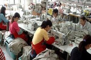 Lavoratori cinesi del tessile