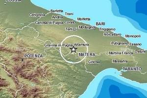 Localizzazione del terremoto nelle Murge