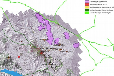 Mappa di Matera