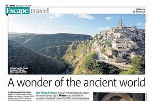 Matera sul giornale inglese Metro