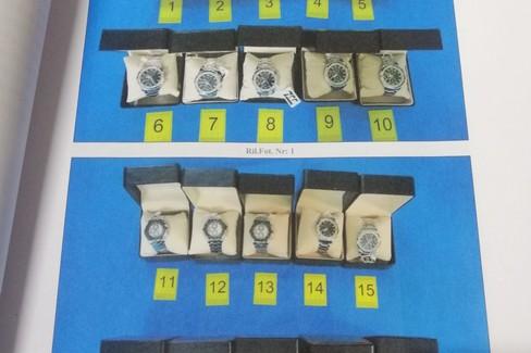 orologi sequestrati dalla Polizia