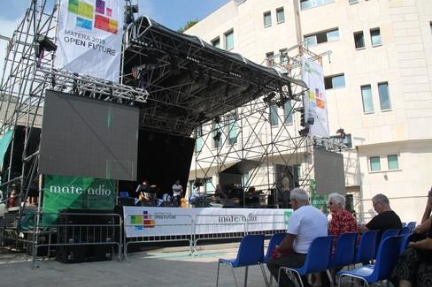 palco MateRadio- piazza San Francesco