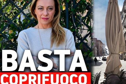 basta coprifuoco- Giorgia Meloni