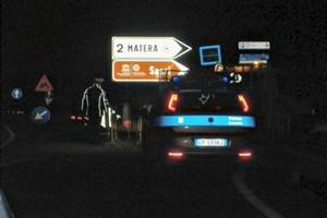 Chiuso al traffico svincolo per Matera centro