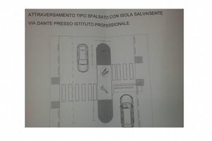 Via Dante progetto area salvagente
