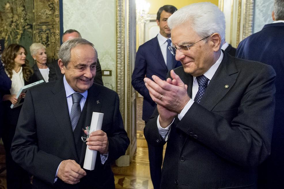 Il sindaco De Ruggieri con il presidente Mattarella