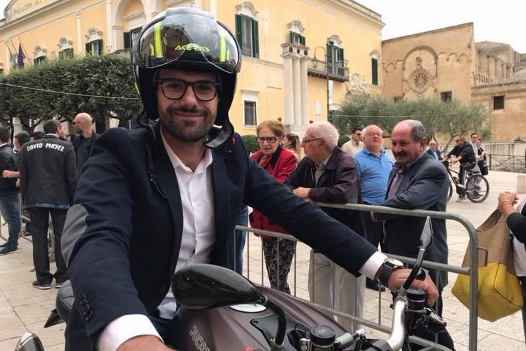 Il motociclista materano Raffaele Rubino scende in pista per la Dunlop Cup 2018