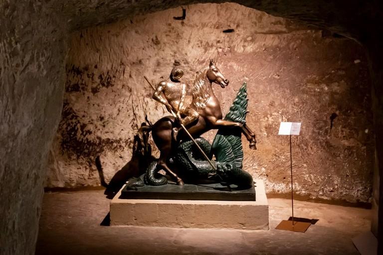 San Giorgio e il drago in bronzo - foto Francesco Giase