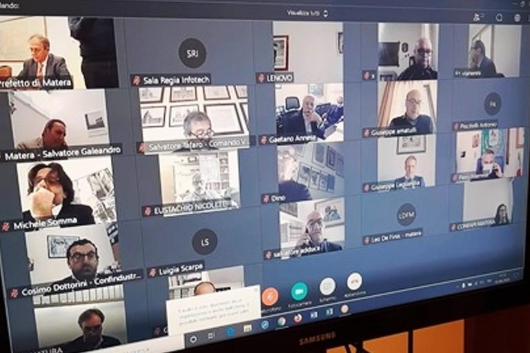 Videoconferenza sulla sicurezza del lavoro