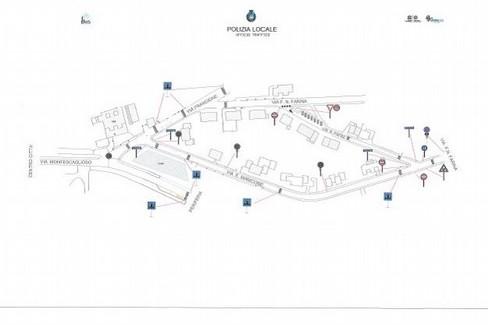 via manicone- mappa modifiche al traffico